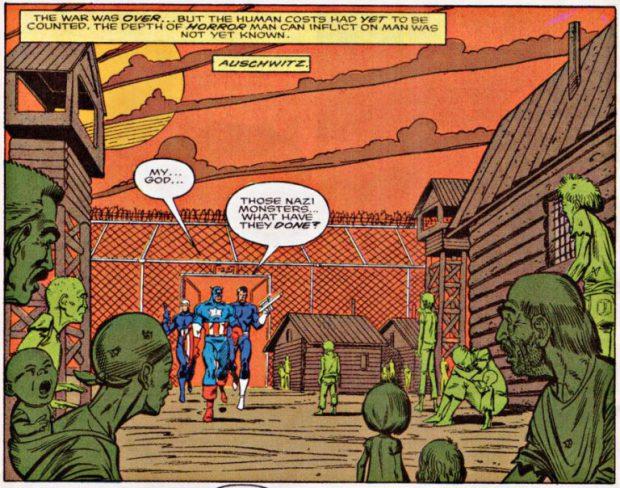 קפטן אמריקה משחרר את אושוויץ