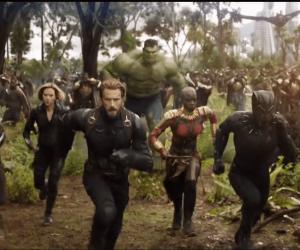 קפטן אמריקה, האלמנה השחורה, הפנתר השחור, הענק הירוק יוצאים לקרב