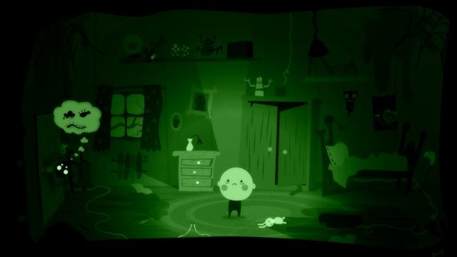פלטת הצבעים של המשחק נעה בין שחור לירוק