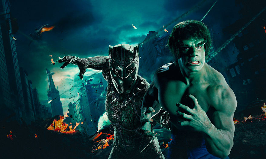 The Incredible Hulk (1978) / Black Panther (2018)