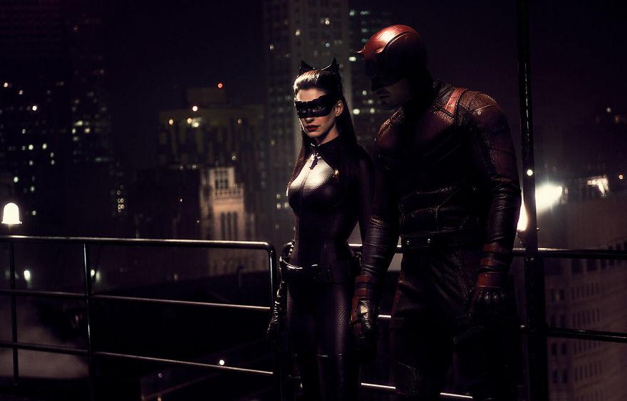 Daredevil (2015) / The Dark Knight rises (2012)